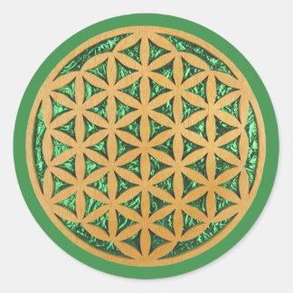 La voluta de talla de madera vio el arte de la pegatina redonda