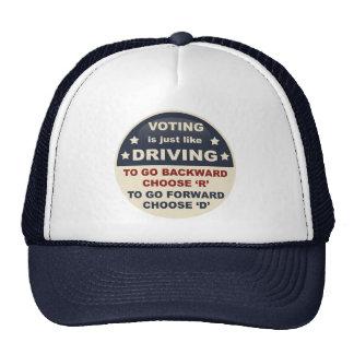 La votación es apenas como la conducción gorro