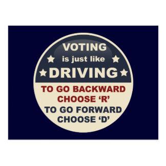 La votación es apenas como la conducción tarjeta postal