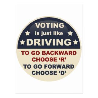 La votación es apenas como la conducción tarjetas postales