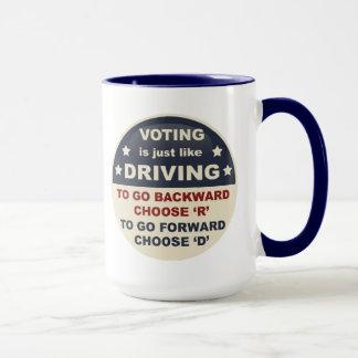 La votación es apenas como la conducción taza