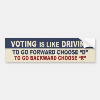 La votación es como la conducción pegatina para auto