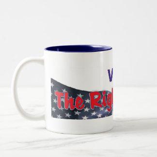 la votación le da la derecha de quejarse mug2 taza de café de dos colores