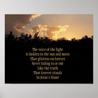 La voz de la luz póster