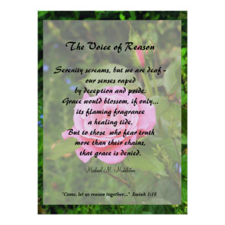 La voz de la razón poster