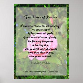La voz de la razón póster