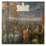 La vuelta de Andrea Contarini del dux victoriosa p Azulejo Cuadrado Grande