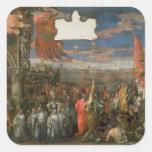 La vuelta de Andrea Contarini del dux victoriosa Pegatina Cuadrada