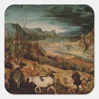 La vuelta de la manada 1565 pegatina cuadradas personalizada