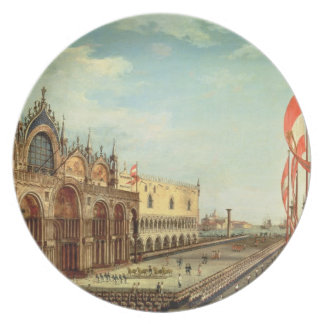 La vuelta de las tropas de St Mark a Venecia Plato De Cena