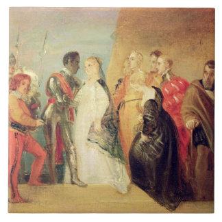 La vuelta de Othello, acto II, escena ii de 'Othe Azulejo Cuadrado Grande