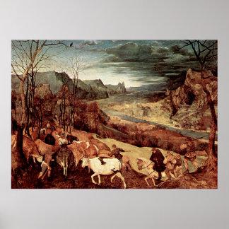 La vuelta de Pieter Bruegel de la manada - 1565 Impresiones