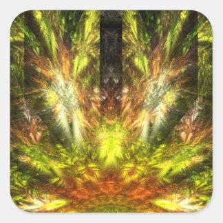 La vuelta de Quetzalcoatl Pegatina Cuadrada