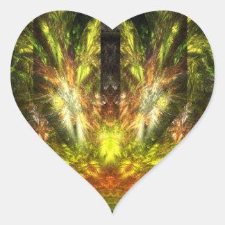 La vuelta de Quetzalcoatl Pegatina En Forma De Corazón