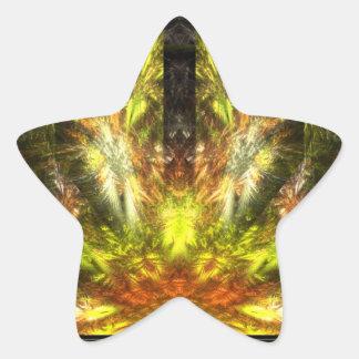 La vuelta de Quetzalcoatl Pegatina En Forma De Estrella