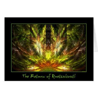 La vuelta de Quetzalcoatl Tarjeta De Felicitación