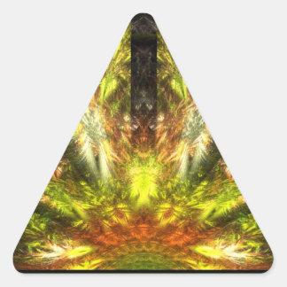 La vuelta de Quezalcoatl Pegatina Triangular