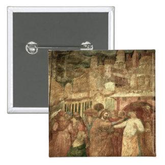 La vuelta de St. Rainiero, mediados del siglo XIV Pin Cuadrada 5 Cm