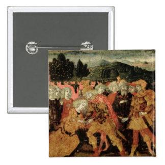 La vuelta de Ulises, el panel del cassone, Sienese Pin Cuadrado