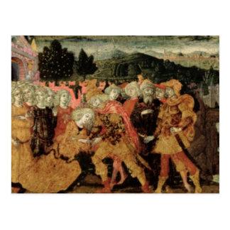 La vuelta de Ulises el panel del cassone Sienese Tarjeta Postal