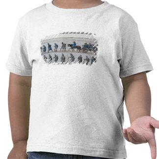 La vuelta del ejército francés derrotado de camisetas