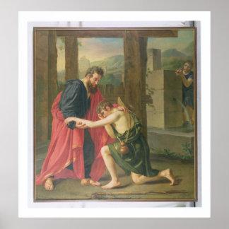 La vuelta del hijo despilfarrador, 1823 (aceite en póster