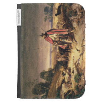 La vuelta del pastor (pluma y tinta marrón, w/c y