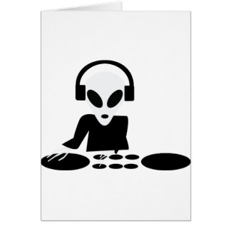 la vuelta extranjera negra presenta el icono de DJ Tarjeta De Felicitación
