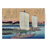 La vuelta navega en Gyotoku por Ando, Hiroshige Tarjetas