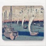 La vuelta navega en Takanawa por Ando, Hiroshige Tapetes De Ratón