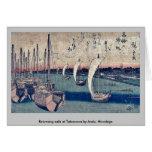 La vuelta navega en Takanawa por Ando, Hiroshige Felicitaciones