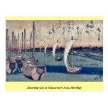 La vuelta navega en Takanawa por Ando, Hiroshige Tarjetas Postales
