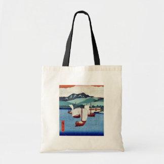 La vuelta navega en Yabase por Ando, Hiroshige Uki Bolsa Tela Barata