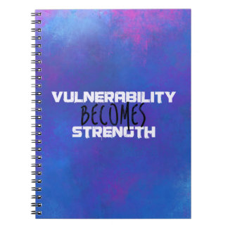 La vulnerabilidad se convierte en extracto de la libro de apuntes con espiral