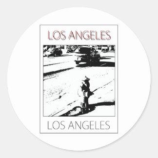 LA water pump Classic Round Sticker