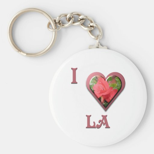 LA -- with Red Rose Keychains