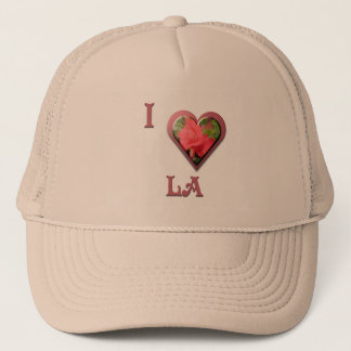 LA -- with Red Rose Trucker Hat
