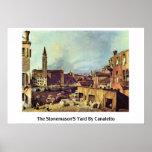 La yarda de los canteros por Canaletto (ii) Póster