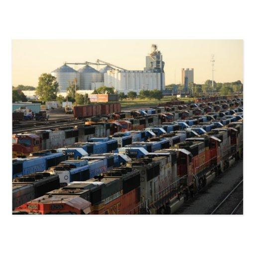 La yarda del ferrocarril tarjeta postal