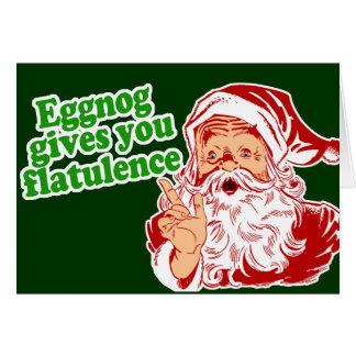 La yema hace que Santa Fart Tarjetas
