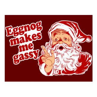 La yema hace Santa flatulento Postal