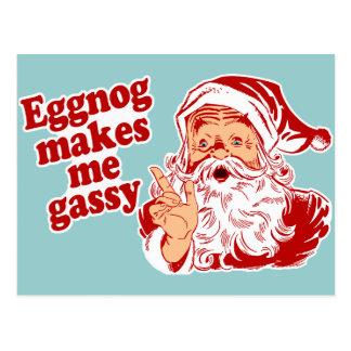 La yema hace Santa flatulento Postales