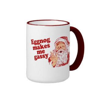 La yema hace Santa flatulento Tazas De Café