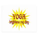 La yoga aclara mi día postales
