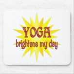La yoga aclara mi día tapetes de ratones