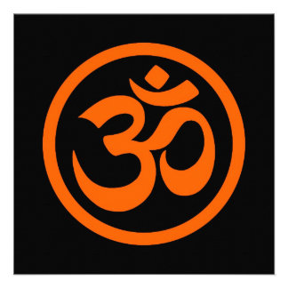 La yoga anaranjada y negra OM circunda Anuncios
