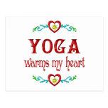 La yoga calienta mi corazón postal