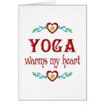 La yoga calienta mi corazón tarjetas