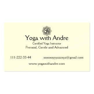 La yoga carda OM Tarjetas De Visita