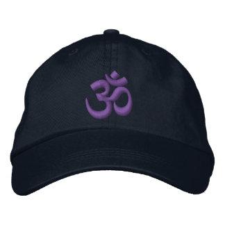 La yoga Chakra de OM púrpura o lo modifica para Gorras De Beisbol Bordadas